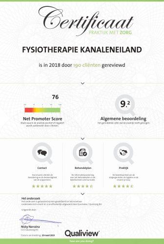 fysiotherapiekanaleneiland_certificaat2018